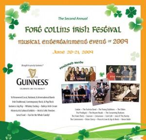 Fort Collins Irish Festival 2009 ad