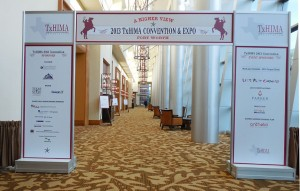 TxHIMA 2013 convention tradeshow entryway